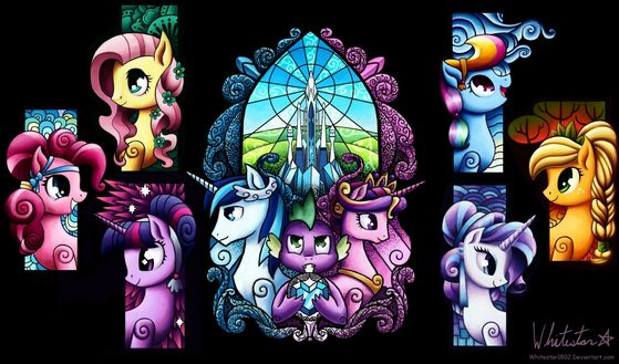 7. Shining Armor and Cadance: Both made a reappearance in the season premiere. Cadance and Shining rule the Crystal Empire which will be the suivant venue for the Equestria games. They were both present at Twilight's coronation.