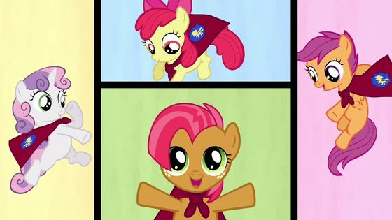 CMC gained a new member Babs Seed, táo, apple Boom's cousin from Manehatten. CMC learned about bullying and strengthened their friendship because of it.