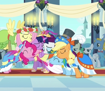 The Mane Six: Despite Twilight becoming a princess, the mane six still remain close and their friendship continues to grow by bringing out the best in each other.