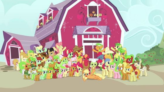 The whole pomme Family is seen again. I bet many people were really happy to see Babs and Braeburn again!