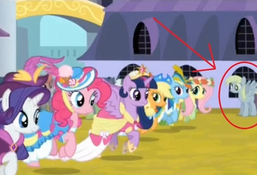 Derpy! Despite the fact that many people a dit Derpy would not seen she has about 5 appearances in Magical Mystery Cure.