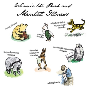 Pooh characters all represent mental disorders winnie the pooh