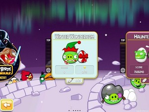 Angry Birds Season Winter Wonderham Main Screen