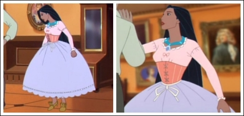 Position #44 Pocahontas' Ball Preparation Outfit