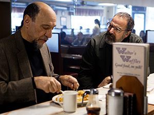 BEARD VS. BEARD After watching Saul confront black ops svengali Dar Adal at the latter's paborito waffle spot, I've begun fantasizing about a spin-off series that's just these two men touring greasy spoons across our fair land — kind of like that 2011 S