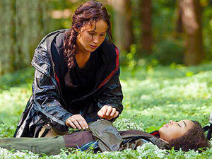 Rue's touching death scene.
