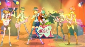The Winx on stage.
