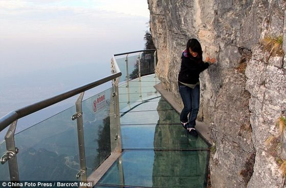 Glass path(4,700ft above sea level)