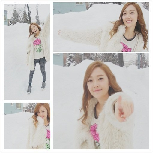 Jessica playing in the snow. ^-^