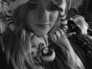 Wearing Kat's hat