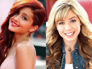 "Ariana Grande and Jennette McCurdy team up for Nickelodeon's ""Sam and Cat""."