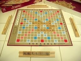 Original hard Scrabble board.