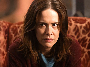 "Damn Plucky. Lana Winters (Sarah Paulson) conspires to take control of her fate in ""The Name Game."""