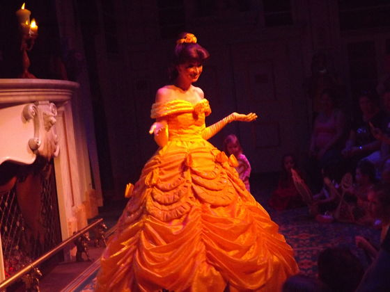 Storytime w/ Belle in the एनचांटेड Forest, part of New Fantasyland.