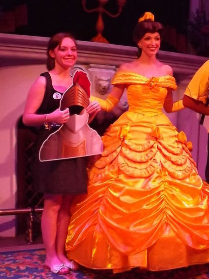 Belle and I :) I got to play the part of the Knight.