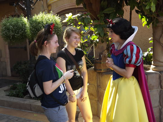 Meeting Snow White in Germany, EPCOT.