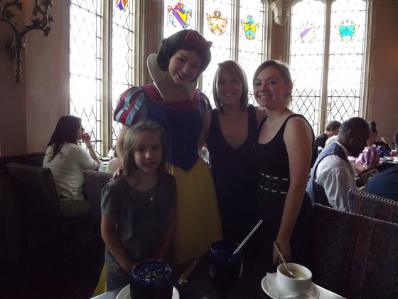 Snow White was the first Princess we met on our trip!