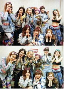 SNSD back stage