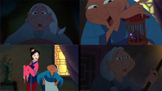 31) Another old lady, Mulan's grandmother