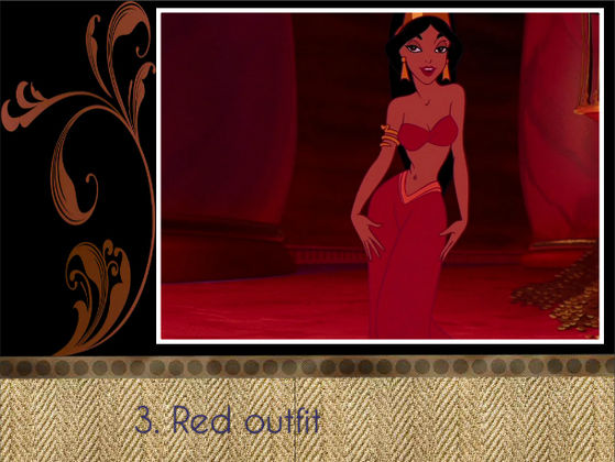 """The red one is Jasmine's best outfit!"" - BraBrief"