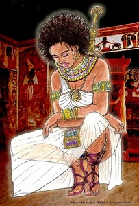 Nefertiti's sparing outfit