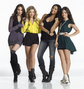 Pretty Little Liars' Troian Bellisario, Ashley Benson, Shay Mitchell, and Lucy Hale.