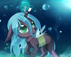 Chrysalis teleports back home
