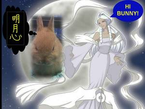 Princess Yue (version door megoomba) adopts wordbender as moonbunny