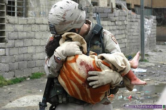 american soldier cared dead iraqi babe