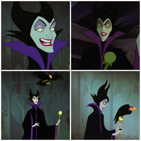 7.Maleficent. Elegant vs green skin.