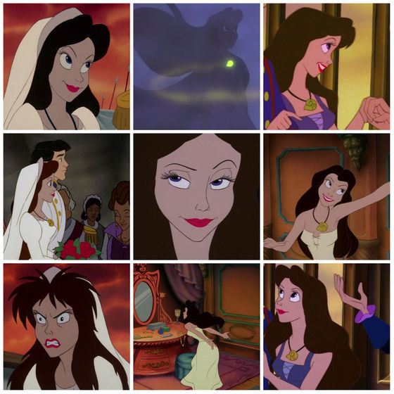 4.Ursula as Vanesa. The enchantress who shadowed Ariel.
