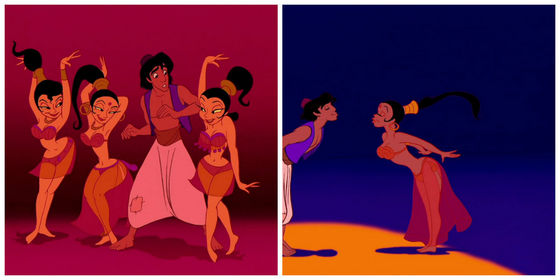 13.Aladdin's bimbettes from a Friend like me. Nothing remarkable.