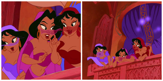 12.Aladdin's bimbettes from Agrabah. 秒 class Jasmines.