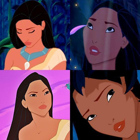 Pocahontas - She's pretty angular, but she has great hair