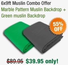 Green Muslin Bakdrop - 123videomagic