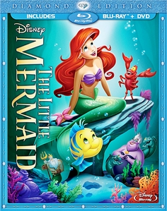 Walt ディズニー Blu-Ray Cover of The Little Mermaid: Diamond Edition