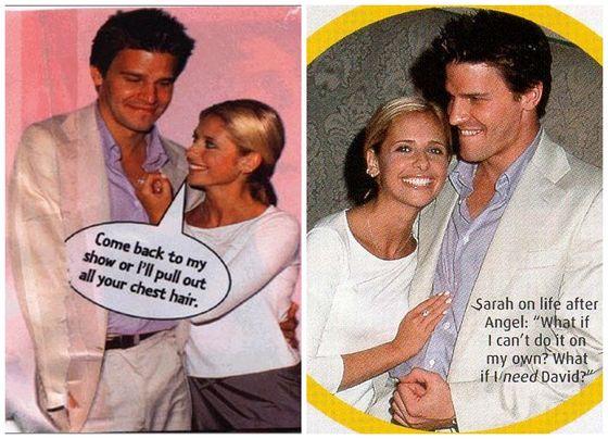 Sarah and David at WB's Summer Press Tour 1999