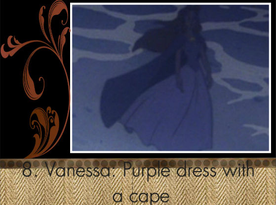"""I Любовь Vanessa's purple dress, even with the cape!"" - BraBrief"