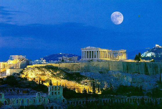 Athens in Central Greece