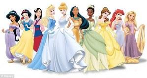 Just pretend Merida's stuck behind Pocahontas and Tia's dress.