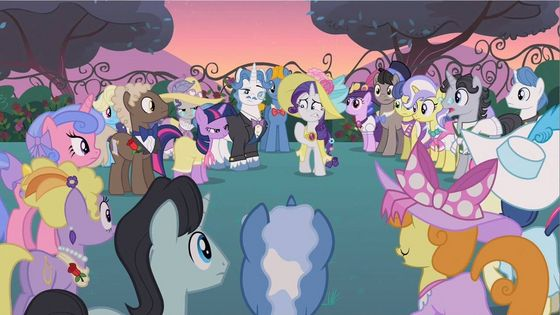 These ponies where clothing not mutch cover for some but there wearing something even the mane 6 apart from rarity who usually never where cloths.