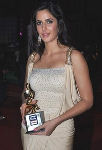 Katrina Kaif with an award
