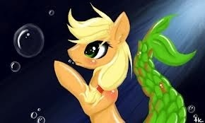 applejack becomes a Merpony