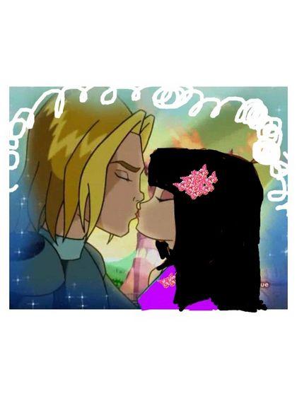 sky and zendaya Kiss