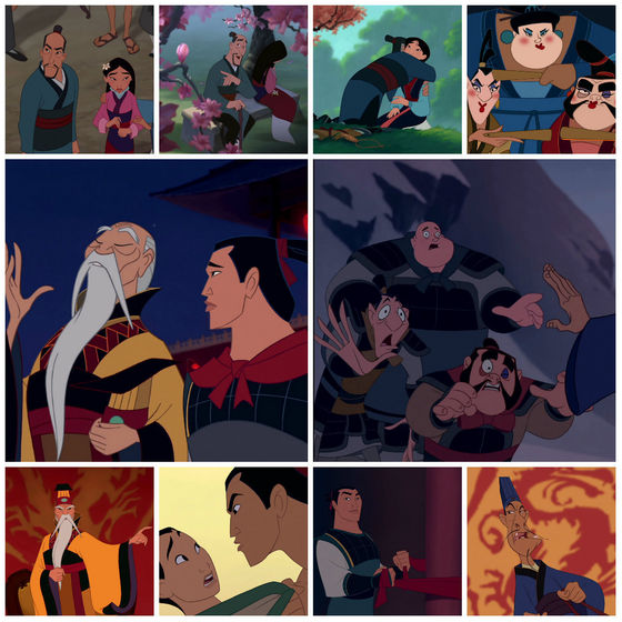 The many sides of men in mulan