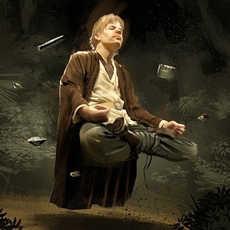 A Jedi using Floating Meditation
