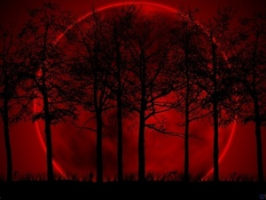 The moon was a light red, Du know the kind of moons Du saw as a child and they always freaked Du out, yeah that kind of moon. It lit the sky yet there seemed to be no stars, it creeped me out.