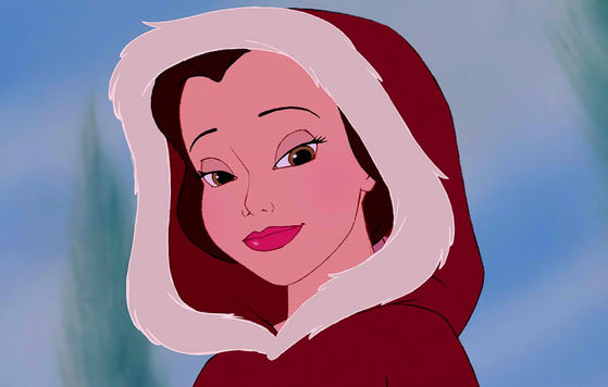 The comfortable dark pink hood Beauty And The Beast Belle Pink Dress