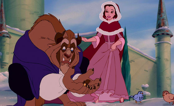 The pink winter outfit Beauty And The Beast Belle Pink Dress
