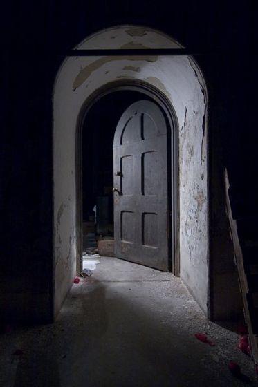 """""""already at the bedroom door"""""""